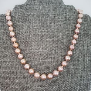 REAL 10mm Lavender Pearl Necklace
